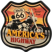 Patch Vintage en Cuir America's Highway