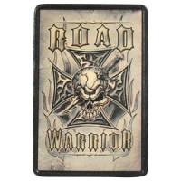 Patch Vintage en Cuir Road Warrior