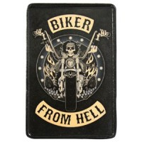 Patch Vintage en Cuir Biker from Hell
