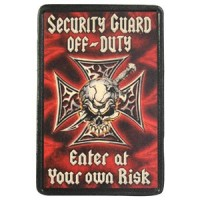 Patch Vintage en Cuir Security Guard
