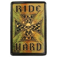 Patch Vintage en Cuir Ride Hard