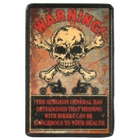 Patch Vintage en Cuir Warning!