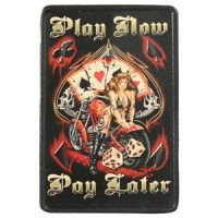 Play Now Pay Later Vintage Leather Patch