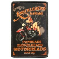 Patch Vintage en Cuir Knucklehead Garage