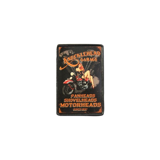 Knucklehead Garage Vintage Leather Patch