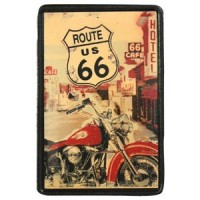 Patch Vintage en Cuir Route 66