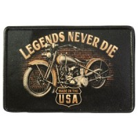 Legends Nerver Die Vintage Leather Patch