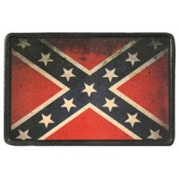 Patch Vintage en Cuir Dixie Flag