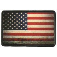 Patch Vintage en Cuir USA Flag