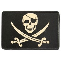 Patch Vintage en Cuir Jolly Roger