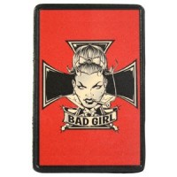 Patch Vintage en Cuir Bad Girl