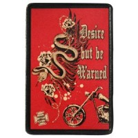 Desire but be Warned Vintage Leather Patch