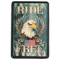 Ride Free Vintage Leather Patch