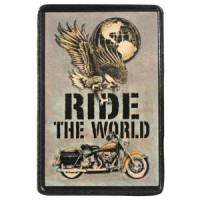 Ride the World Vintage Leather Patch