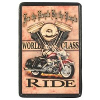 Patch Vintage en Cuir World Class Ride