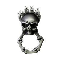 Flaming Skull Glasses Pin Biker 100% craft