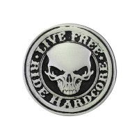 Live Free Ride Hardcore Pin Biker 100% craft