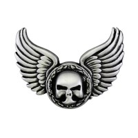 Wings Skull Pin Biker 100% craft