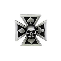 Malta Cross Skull Pin Biker 100% craft