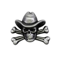 Skull Cow Boy Pin Biker 100% craft