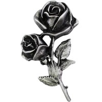 Pin's décoratif Rose Biker 100% artisanal