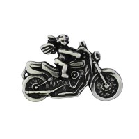 Cherub on Motorcycle Pin Biker 100% craft
