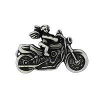 Pin's décoratif Angelot à Moto Biker 100% artisanal