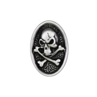 Pin's décoratif Tête de Mort  Biker 100% artisanal