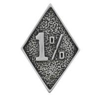Pin's décoratif 1% Biker 100% artisanal